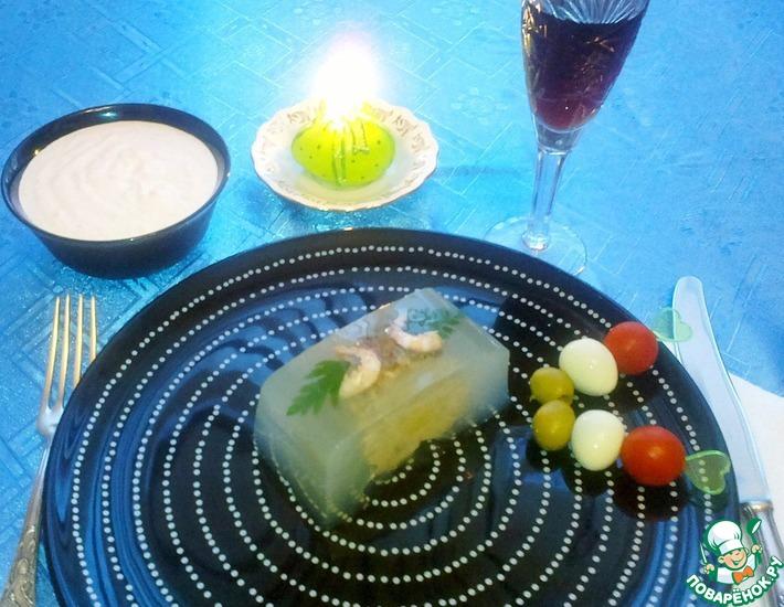 Рецепт: Заливная щука Вива Италия