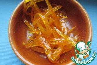 Рецепт: Апельсиновая карамель