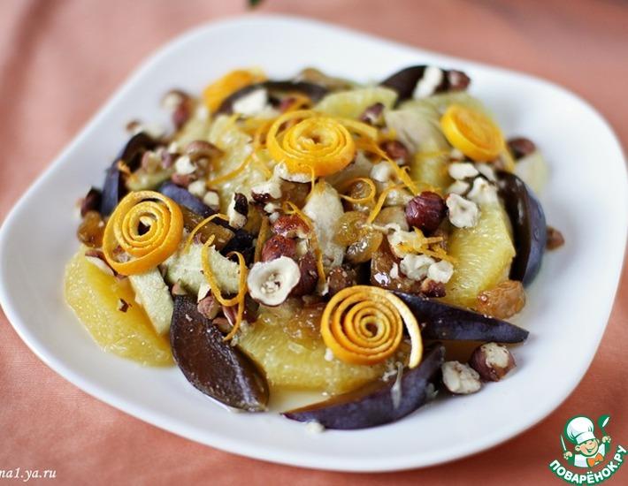 Рецепт: Фруктово-ягодный десерт с орехами
