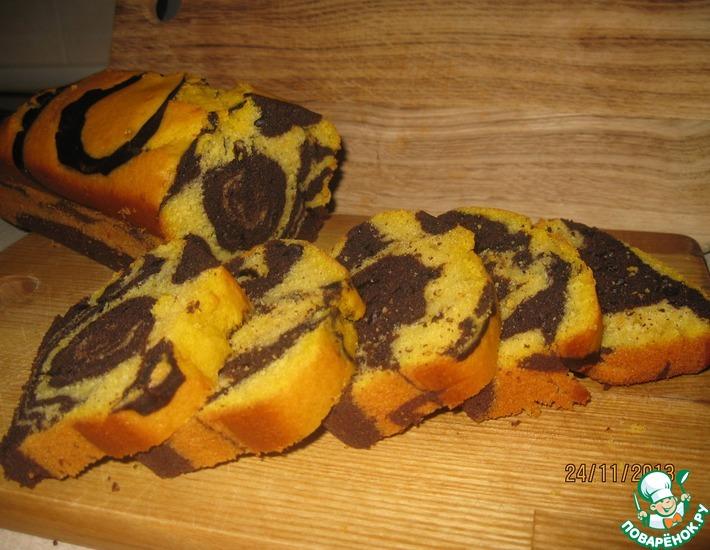 Рецепт: Шоколадно-тыквенный кекс