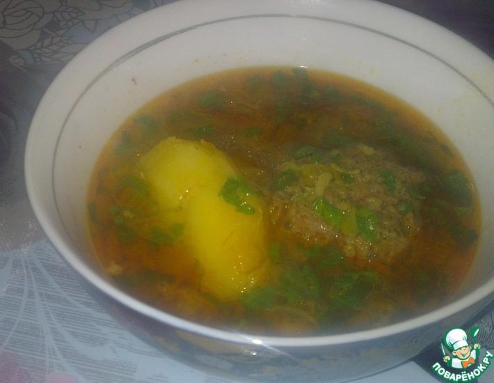 Рецепт: Кюфта бозбаш-суп с тефтелями