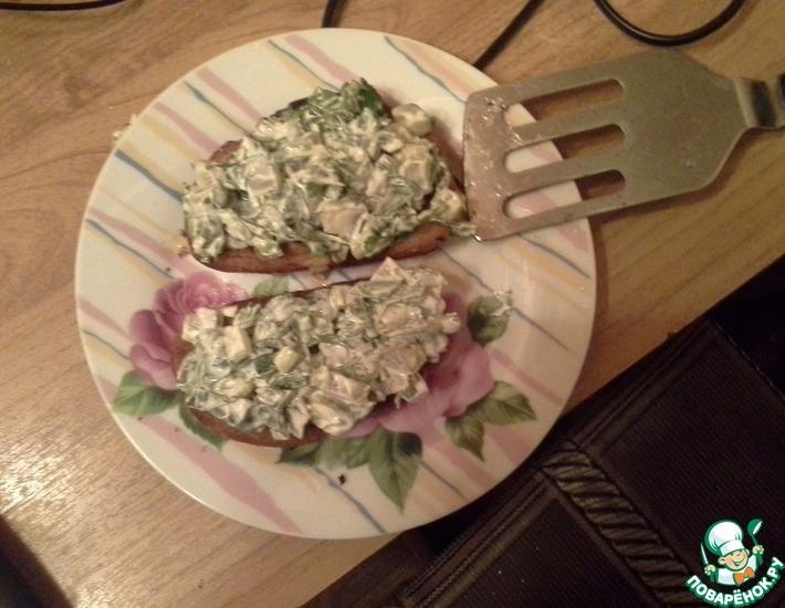 Рецепт: Яичные бутерброды