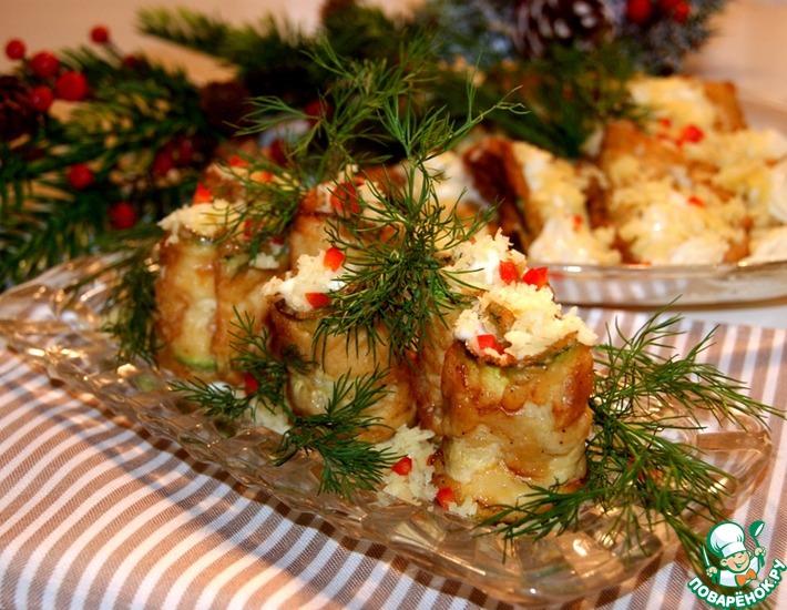 Рецепт: Кабачки по-киевски