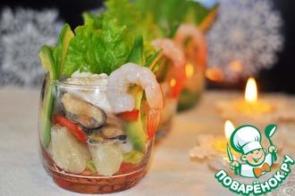Рецепт: Салат-коктейль Ассорти вкусов