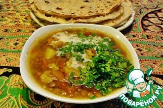 Рецепт: Индийский суп Дал с овощами