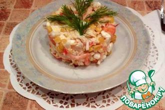 Рецепт: Креветочный салатик Мысли поваренка