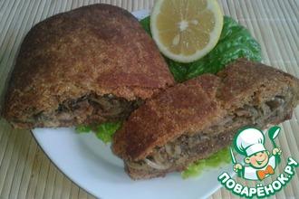 Рецепт: Хлебец закусочный с луком и оливками