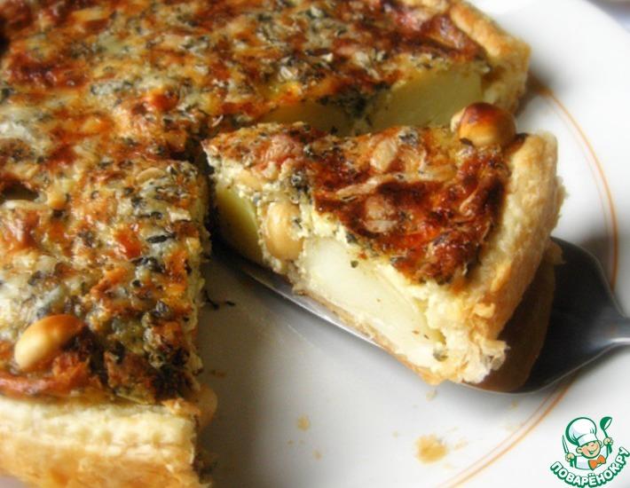 Рецепт: Картофельный пирог с орехами