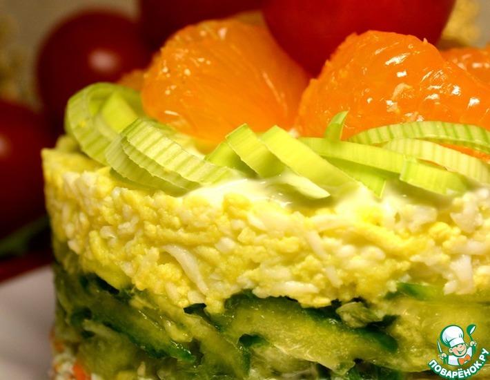 Рецепт: Крабовый тертый мини-торт