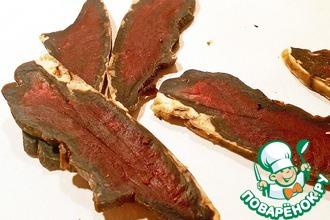 Рецепт: Сыро-вяленое говяжье сердце
