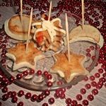 Печенье Новогодняя ночь из колбасного теста