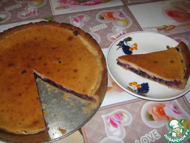 Кофейно черничный пирог