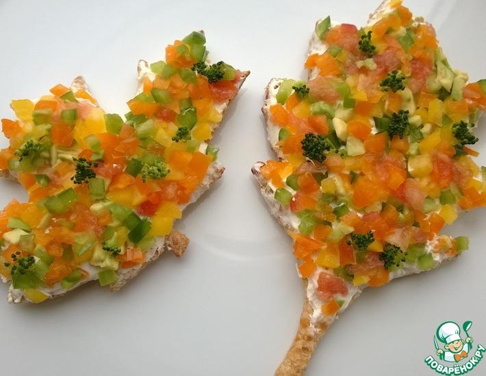Рецепт: Закуска Осенние листья