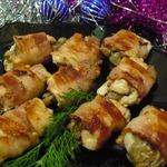 Закусочные рулетики из курицы с печенью