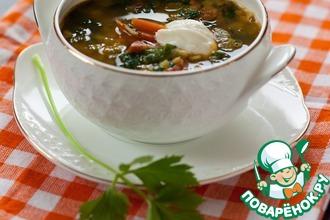 Рецепт: Суп с чечевицей и шпинатом
