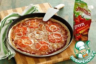 Рецепт: Овощная пицца