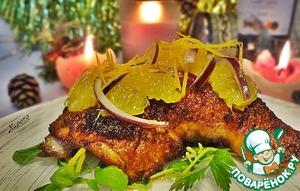 Рецепт Праздничная курица с соусом айоли