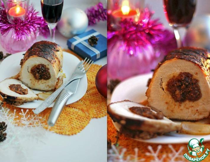 Рецепт: Свинина с инжиром и карамелизованным фенхелем