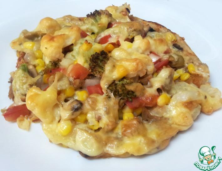 Рецепт: Пицца восточная Малауах