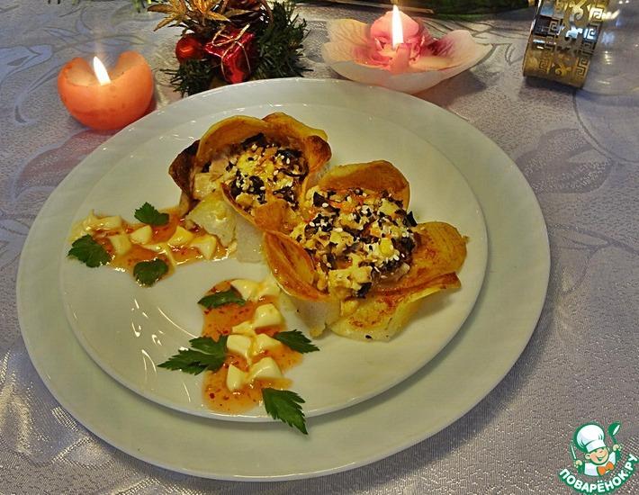 Рецепт: Горячее Новогодний букет