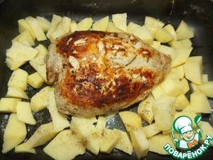 Запеченная куриная грудка с овощным гарниром – кулинарный рецепт