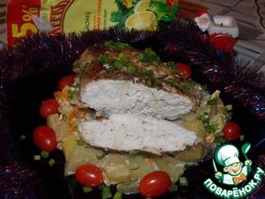 Грудка, запечённая с картофелем по-гречески – кулинарный рецепт