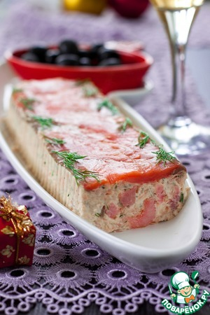 Pate of shrimp and trout with sauce