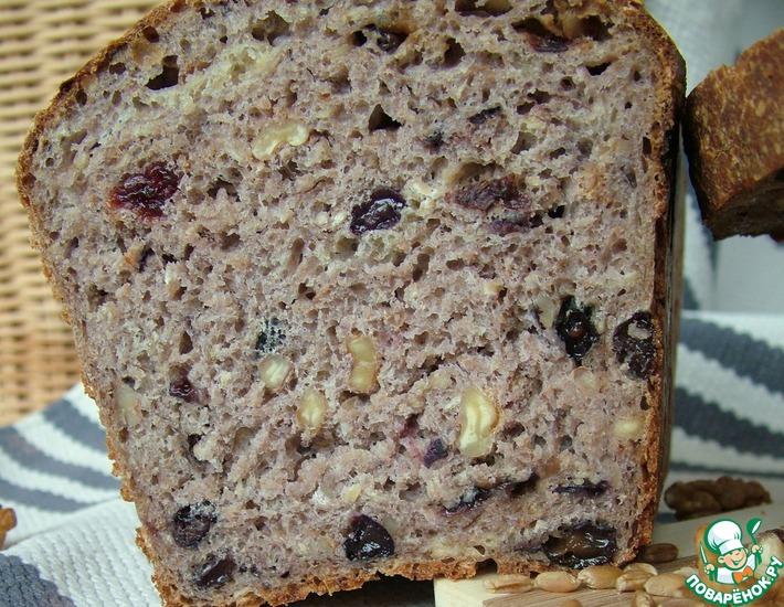 Рецепт: Пшеничный хлеб с орехами и изюмом