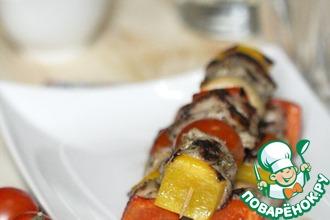 Рецепт: Кебабы из баранины с перцем и помидорами