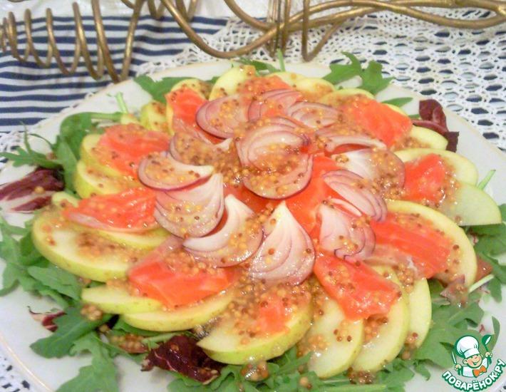 Рецепт: Салат Рыба в яблоках