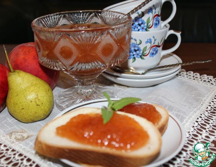 Рецепт: Джем из груш и персиков