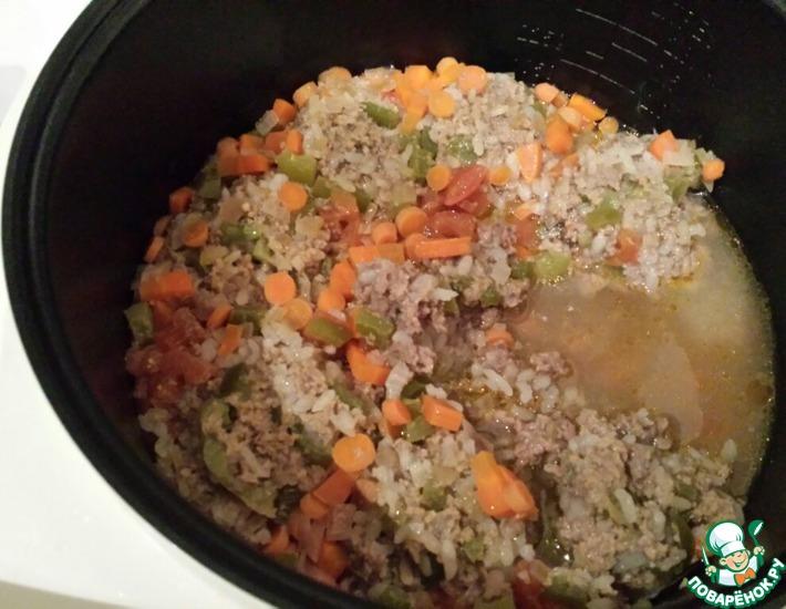 Рецепт: Ленивые перцы с мясным фаршем