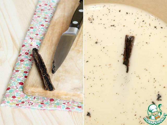 Ванильная панакотта с черничным соусом