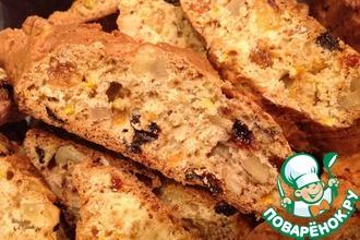 Рецепт: Печенье с орехами и изюмом Бискотти