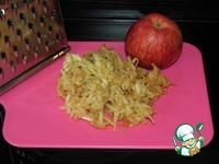 Дрожжевые оладьи с яблоками и брусничным соусом ингредиенты