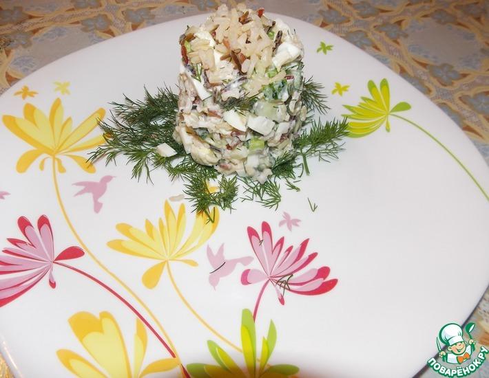 Рецепт: Салат из огурца и смеси риса Акватика