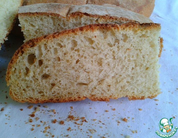 Рецепт: Деревенский хлеб на суточной закваске