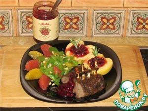 Рецепт Каре ягнёнка с яблоком и брусникой