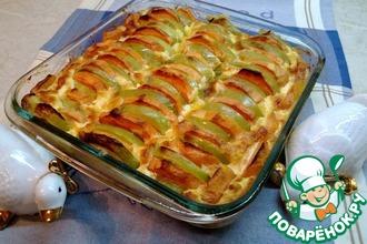 Рецепт: Запеченный батат с яблоками
