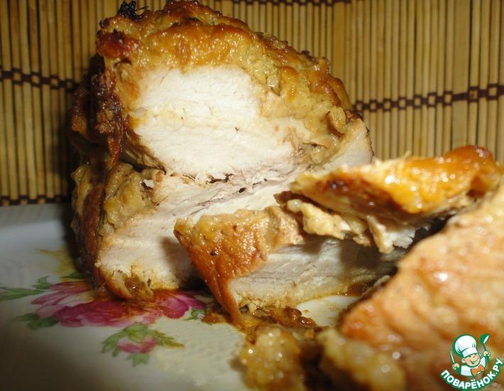 Рецепт: Буженина имбирная в яблочно-горчичной корочке