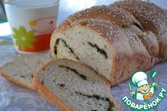 Рецепт: Домашний хлеб с ароматными травами