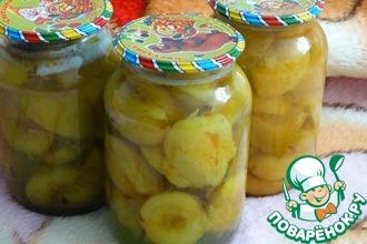 Рецепт: Персики в сиропе