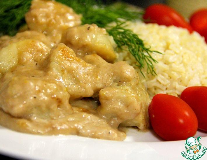 Рецепт: Морские гребешки с бруснично-лимонным соусом