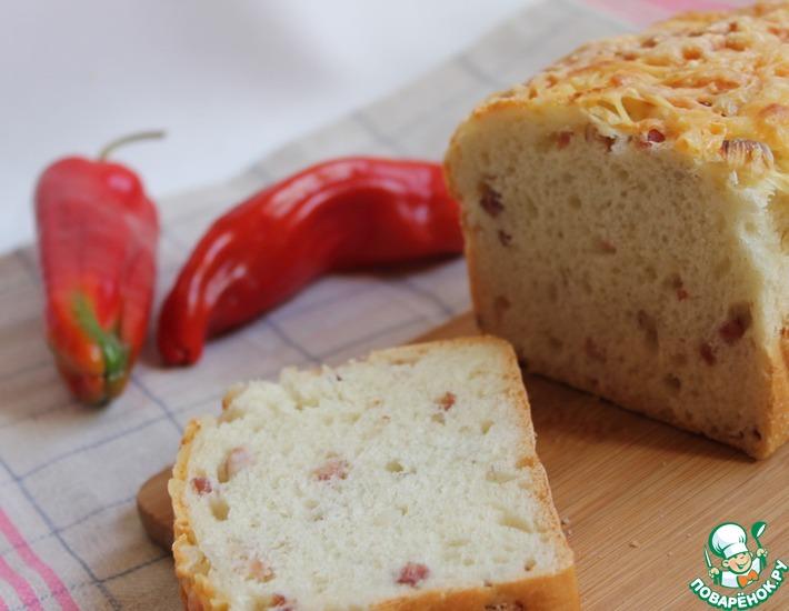 Рецепт: Хлеб с сыром и беконом