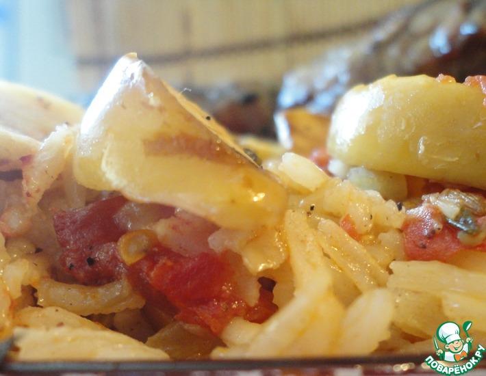 Рецепт: А-ля-плов из духовки со свиной вырезкой