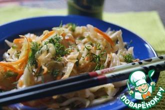 Рецепт: Капуста по-корейски