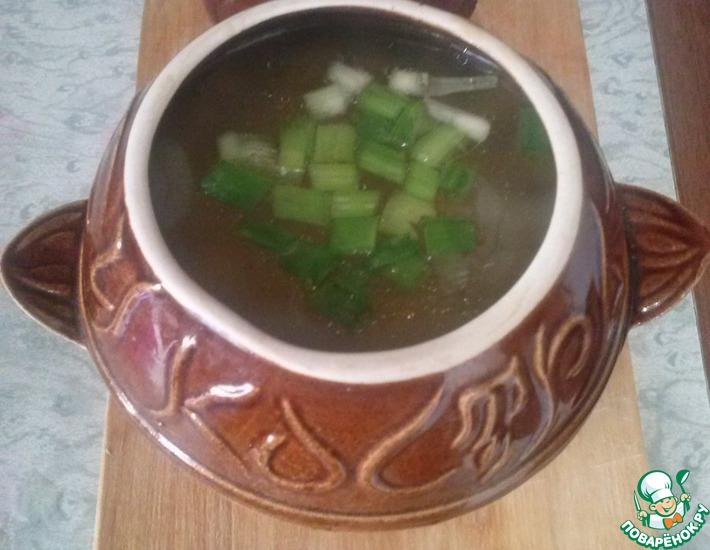 Рецепт: Тыквенный суп в горшочках