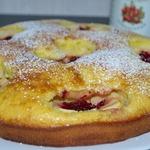 Шведский яблочный пирог с клюквой