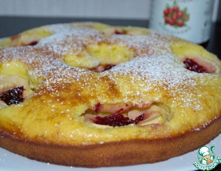 Рецепт: Шведский яблочный пирог с клюквой
