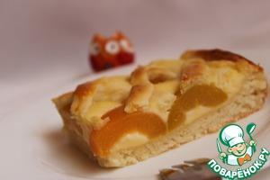 Рецепт Абрикосовый пирог из творожного теста